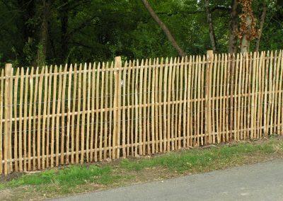 clôtures ganivelles châtaignier dordogne