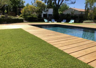 Terrasse bois piscine en Dordogne Périgord