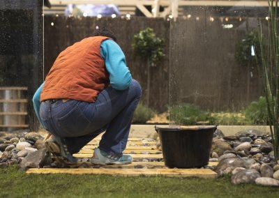 Finition d'une scène de jardin